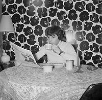 le chanteur Pascal Normand vers 1974 (date inconnue, avant 1984),<br /> <br /> Photo : Agence Quebec Presse - Roland Lachance