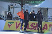 SPEED SKATING: COLLALBO: Arena Ritten, 11-01-2019, ISU European Speed Skating Championships, training, Thomas Krol (NED), Jac Orie (Trainer/coach), Sicco Janmaat (Trainer/coach), ©photo Martin de Jong