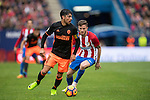 Enzo Nicolas Perez of Valencia CF runs with the ball during the match Atletico de Madrid vs Valencia CF, a La Liga match at the Estadio Vicente Calderon on 05 March 2017 in Madrid, Spain. Photo by Diego Gonzalez Souto / Power Sport Images