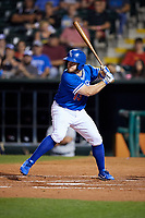 Oklahoma City Dodgers first baseman Max Muncy (13) at bat during a game against the Colorado Springs Sky Sox on June 2, 2017 at Chickasaw Bricktown Ballpark in Oklahoma City, Oklahoma.  Colorado Springs defeated Oklahoma City 1-0 in ten innings.  (Mike Janes/Four Seam Images)