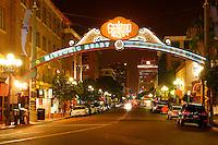 The Gaslamp District in downtown San Diego, California