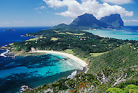 Lord Howe Island, NSW, Australia.  Shot from Malabar Hill.  Ned's beach in left foreground