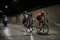 tunnel action by eventual winner Chantal Blaak (NED/Boels-Dolmans)<br /> <br /> Women Elite Road Race<br /> <br /> UCI 2017 Road World Championships - Bergen/Norway