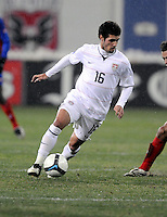 USMNT midfielder Benny Feilhaber (16)   The USMNT tied Costa Rica 2-2 on the final game of the 2010  FIFA World Cup Qualifying round at RFK Stadium,Wednesday  October 14 , 2009.