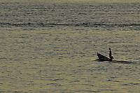 Ribeirinho navega sua canoa nas águas do rio Tocantins.<br /> Marabá, Pará, Brasil<br /> ©FOTO: PAULO SANTOS/INTERFOTO