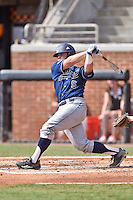 UC Irvine Anteaters catcher Alex Guenette (5) swings at a pitch during game one of a double header against the Tennessee Volunteers at Lindsey Nelson Stadium on March 12, 2016 in Knoxville, Tennessee. The Volunteers defeated the Anteaters 14-4. (Tony Farlow/Four Seam Images)