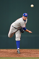 St. Lucie Mets pitcher Michael Fulmer (12) delivers a pitch during a game against the Fort Myers Miracle on April 18, 2014 at Hammond Stadium in Fort Myers, Florida.  St. Lucie defeated Fort Myers 15-9.  (Mike Janes/Four Seam Images)