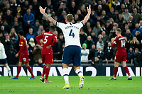 Tottenham's Toby Alderweireld reacts to Referee Martin Atkins' no foul decision<br /> <br /> Photographer Stephanie Meek/CameraSport<br /> <br /> The Premier League - Tottenham Hotspur v Liverpool - Saturday 11th January 2020 - Tottenham Hotspur Stadium - London<br /> <br /> World Copyright © 2020 CameraSport. All rights reserved. 43 Linden Ave. Countesthorpe. Leicester. England. LE8 5PG - Tel: +44 (0) 116 277 4147 - admin@camerasport.com - www.camerasport.com