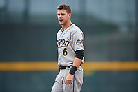 Akron RubberDucks Ernie Clement (6) during an Eastern League game against the Erie SeaWolves on June 2, 2019 at UPMC Park in Erie, Pennsylvania.  Akron defeated Erie 7-2 in the first game of a doubleheader.  (Mike Janes/Four Seam Images)