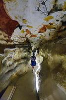 Sur le site de Lascaux IV, à l'intérieur du Facsimilé