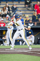 Michigan Wolverines designated hitter Dominic Jamett (41) at bat against the Eastern Michigan Hurons on May 3, 2016 at Ray Fisher Stadium in Ann Arbor, Michigan. Michigan defeated Eastern Michigan 12-4. (Andrew Woolley/Four Seam Images)