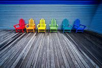 Colorful chairs. Kauai, Hawaii