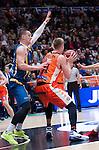 Valencia BC's Justin Hamilton and Herbalife Gran Canaria's Alen Omic during ACB match. November 29, 2015. (ALTERPHOTOS/Javier Comos)
