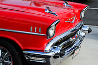 USA, New Jersey, Wildwood, parade of classic cars, front of GM General Motors Chevrolet Bel Air at parking place of Motel Rusmar at Ocean Ave, could be in Havanna Cuba too