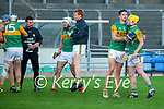 The Kerry team celebrate after winning after the Joe McDonagh hurling cup fourth round match between Kerry and Carlow at Austin Stack Park on Saturday.