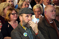 Pictured: A man shows his disappointment after the live announcement at the Hyst in Swansea, Wales, UK. Thursday 07 December 2017<br />Re: Coventry has been chosen to be the UK's City of Culture for 2021.<br />The other places in the running for the title were Swansea, Paisley, Stoke-on-Trent and Sunderland.