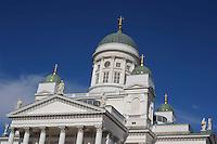 La cattedrale di Helsinki, simbolo della città, Tuomiokirkko.<br /> The Helsinki Cathedral, symbol of the city, Tuomiokirkko.