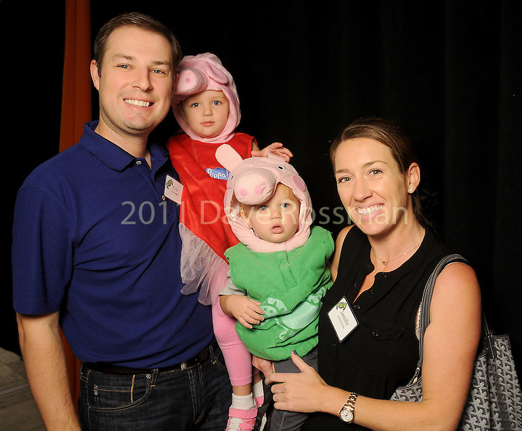 Jennifer and Kyle Roane with Emma and Conor at the Little Galleria Halloween Spooktacular presented by MD Anderson Children's Cancer Hospital at The Galleria Sunday Oct. 30,2016.(Dave Rossman photo)