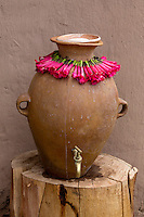 Peru, Urubamba Valley, Quechua Village of Misminay.  Pot for Drinking Water at Village House.