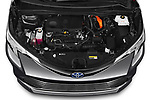 Car Stock 2021 Toyota Sienna Platinum 5 Door Minivan Engine  high angle detail view