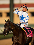 AUGUST 08, 2021: Princess Grace and Kent Desormeaux win the Yellow Ribbon Handicap at Del Mar Fairgrounds in Del Mar, California on August 08, 2021. Evers/Eclipse Sportswire/CSM