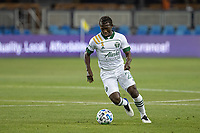 SAN JOSE, CA - SEPTEMBER 19: Diego Chara #21 of the Portland Timbers controls the ball during a game between Portland Timbers and San Jose Earthquakes at Earthquakes Stadium on September 19, 2020 in San Jose, California.