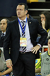 Inter FS's coach Jesus Velasco during UEFA Futsal Cup 2015/2016 Semifinal match. April 22,2016. (ALTERPHOTOS/Acero)