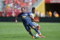 Santa Clara, CA - Sunday July 22, 2018: Juan Mata during a friendly match between the San Jose Earthquakes and Manchester United FC at Levi's Stadium.