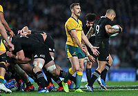 Nic White in action during the Bledisloe Cup rugby match between the New Zealand All Blacks and Australia Wallabies at Eden Park in Auckland, New Zealand on Saturday, 17 August 2019. Photo: Simon Watts / lintottphoto.co.nz