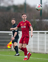 Tony Gallacher of Liverpool during the Premier League 2 match between Tottenham Hotspur U23 and Liverpool U23 at Tottenham Hotspur Training Ground, Hotspur Way, England on 6 December 2019. Photo by Andy Rowland.