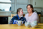 Katie Lyons a student at Saint Itas and Josephs at home in Castleisland with her mother Miriam.