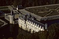 Europe/France/Centre/37/Indre-et-Loire/Chenonceau : Le château - vue aérienne