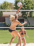 Long Beach, California, USA - April 28 : Women's Beach Volleyball action at USC - Long Beach in, Long Beach, California. .