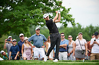 6th June 2021; Dublin, Ohio, USA;  Patrick Cantlay (USA) watches his tee shot on 5 during the final round of the Memorial Tournament at Muirfield Village Golf Club in Dublin, Ohio