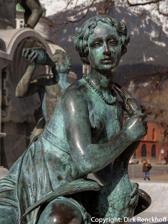 Leopoldsbrunnen vor der Hofburg, Innsbruck, Tirol, Österreich, Europa<br /> Leopold fountain in front of Hofburg, Innsbruck, Tyrol, Austria, Europe