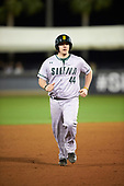 Siena Saints pinch hitter Nico Ramos (44) runs the bases after hitting a home run during a game against the UCF Knights on February 17, 2017 at UCF Baseball Complex in Orlando, Florida.  UCF defeated Siena 17-6.  (Mike Janes/Four Seam Images)