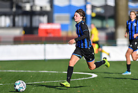 Brugge's Debbie Decoene pictured in action during a female soccer game between the women teams of Club Brugge YLA Dames and Union Saint-Ghislain Tertre-Hautrage Ladies on the 1/16 th qualifying round for the Belgian Womens Cup 2020  2021 , on saturday 26 th of September 2020  in Brugge , Belgium . PHOTO SPORTPIX.BE | SPP | DAVID CATRY