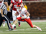 Houston Cougars quarterback Crawford Jones (13) in action during the game between the University of Houston Cougars and the Southern Methodist Mustangs at the Gerald J. Ford Stadium in Dallas, Texas. SMU defeats Houston 72 to 42.