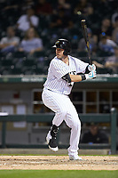 Matt Skole (21) of the Charlotte Knights at bat against the Toledo Mud Hens at BB&T BallPark on April 24, 2019 in Charlotte, North Carolina. The Knights defeated the Mud Hens 9-6. (Brian Westerholt/Four Seam Images)