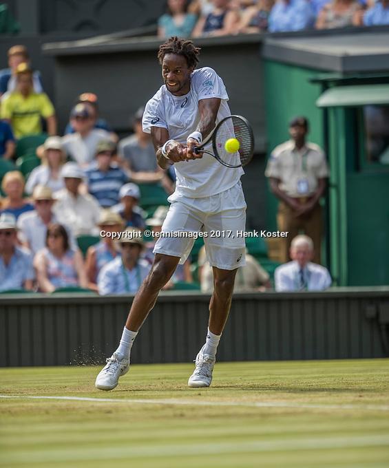 London, England, 6 th July, 2017, Tennis,  Wimbledon, Gael Monfils (FRA)<br /> Photo: Henk Koster/tennisimages.com