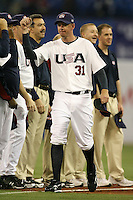 March 7, 2009:  Pitcher Brad Ziegler (31) of Team USA during the first round of the World Baseball Classic at the Rogers Centre in Toronto, Ontario, Canada.  Team USA defeated Canada 6-5 in both teams opening game of the tournament.  Photo by:  Mike Janes/Four Seam Images