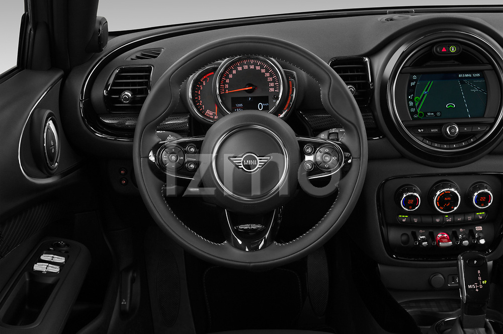 Car pictures of steering wheel view of a 2020 Mini Clubman S 5 Door Wagon