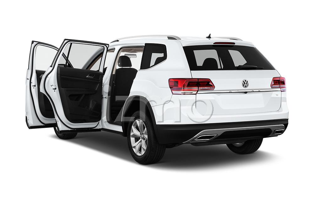 Car images close up view of a 2019 Volkswagen Atlas S 5 Door SUV doors