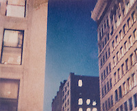 AVAILABLE FROM JEFF AS A FINE ART PRINT.<br /> <br /> AVAILABLE FROM JEFF FOR COMMERCIAL AND EDITORIAL LICENSING.<br /> <br /> Polaroid Transfer - Office Buildings in the Flatiron District at Dusk, Lower Fifth Avenue, New York City, New York State, USA
