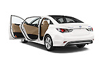Car images of a 2015 Hyundai Sonata Hybrid Limited 4 Door Sedan Doors