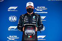 BOTTAS Valtteri (fin), Mercedes AMG F1 GP W12 E Performance with Pirelli Pole position trophy during the Formula 1 Heineken Grande Prémio de Portugal 2021 from April 30 to May 2, 2021 on the Algarve International Circuit, in Portimao, Portugal<br /> FORMULA 1 : Grand Prix Portugal - Essais - Portimao - 01/05/2021<br /> Photo DPPI/Panoramic/Insidefoto <br /> ITALY ONLY