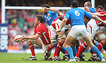 Ryan Jones picks the ball up from the back of the scrum..2012 RBS 6 Nations.Wales v Italy.Millennium Stadium..10.03.12.Credit: STEVE POPE-Sportingwales