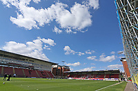 Blue skies over the ground during Leyton Orient vs Walsall, Sky Bet EFL League 2 Football at The Breyer Group Stadium on 5th April 2021
