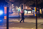 © Joel Goodman - 07973 332324. 26/09/2017. Brighton, UK. Police run to detain a man after a fight in Steine Gardens in the Kemptown area of the city . Revellers at the end of a night out in Brighton during Freshers week , when university students traditionally enjoy the bars and clubs during their first nights out in a new city . Photo credit : Joel Goodman