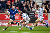 3rd October 2021; AJ Bell stadium, Eccles, Greater Manchester, England: Gallagher Premiership Rugby, Sale v Exeter ; Cameron Neild of Sale Sharks runs in a try that was disallowed